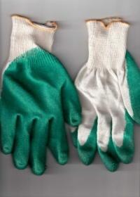 Перчатки рабочие с одинарным латексным покрытием